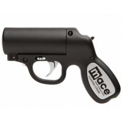 Pfefferspray Pistole schwarz Strobe LED
