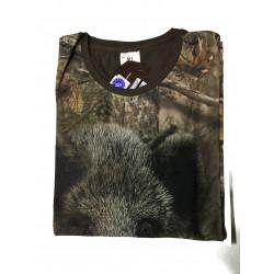 "T-shirt ""Sau"" camo Kurzarm"