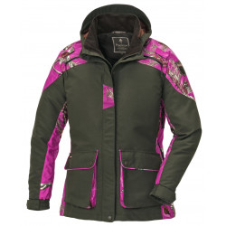 Pinewood Jacke Hunter Red Deer 8352 Ladies Moosgrün/Hotpink