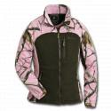 Pinewood Fleecejacke Oviken AP Pink/Jagdgrün