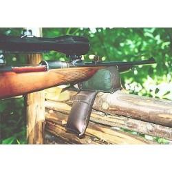 Gewehrauflage, Leder